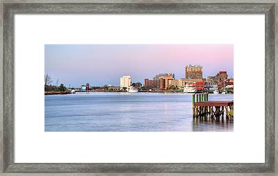 The Wilmington Skyline Framed Print by JC Findley