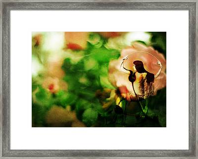 The Wind Around Her Shoulders Framed Print by Rebecca Sherman