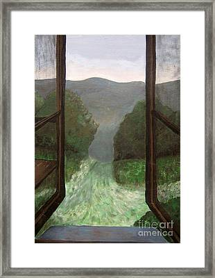 The Window Framed Print by Reb Frost