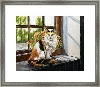 The Window Seat Framed Print by Cat Culpepper