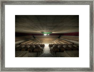 The Wine Temple Framed Print by Marco Romani