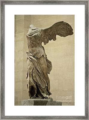 The Winged Victory Of Samothrace Framed Print by Chris  Brewington Photography LLC