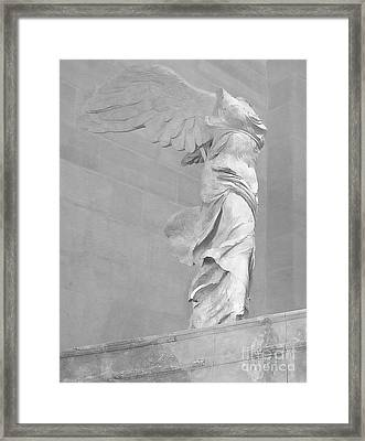 The Winged Victory Of Samothrace Framed Print by Lilliana Mendez