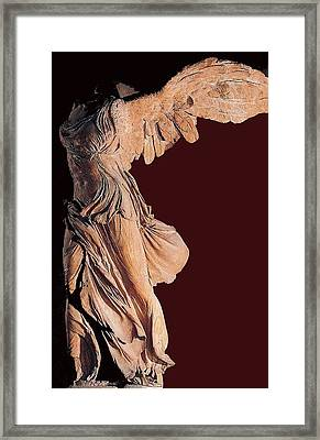 The Winged Victory Of Samothrace Number 3 Framed Print by David Lee Guss