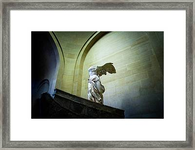 The Winged Victory Of Samothrace Framed Print by Vasile Ciprian Axinte