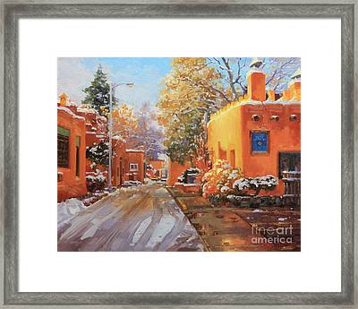 The Winter Beauty Of Santa Fe Framed Print by Gary Kim