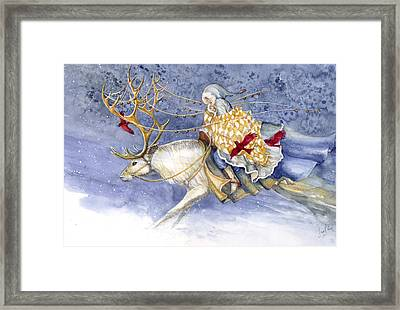 The Winter Changeling Framed Print by Janet Chui