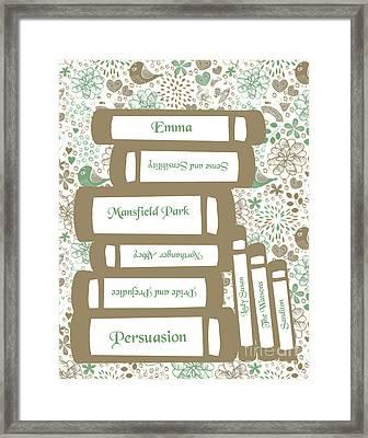 The Wisdom Of Jane Austen Framed Print by Sarah St Pierre