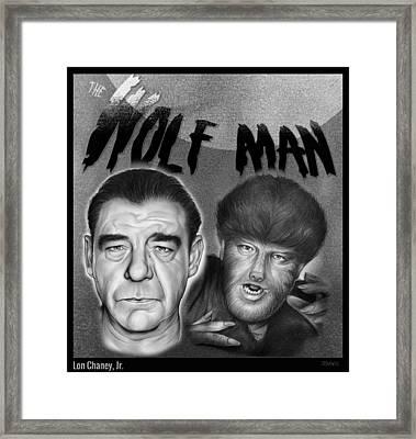 The Wolf Man Framed Print by Greg Joens