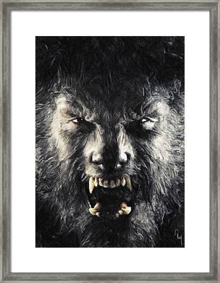 The Wolfman Framed Print by Taylan Apukovska