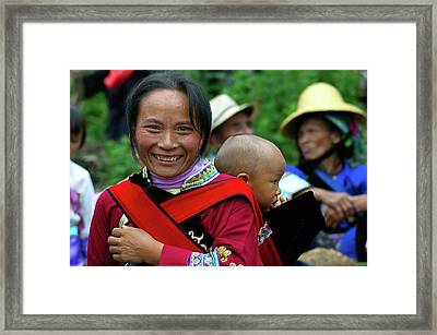 The Woman And The Child Framed Print by Alain Gaymard
