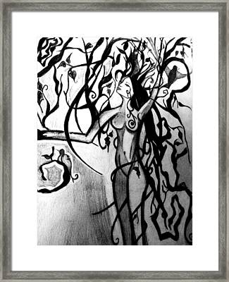 The Woman Who Became A Tree Framed Print by Cat Jackson