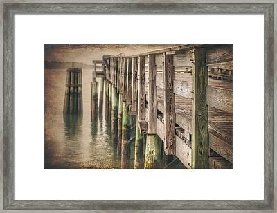 The Wooden Pier Framed Print by Carol Japp