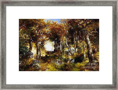 The Woodland Pool Framed Print by Thomas Moran