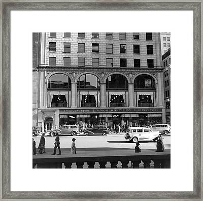 The Woolworth & Co. Store Framed Print by Underwood Archives