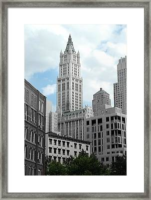 The Woolworth Building - Nyc Framed Print by Frank Mari