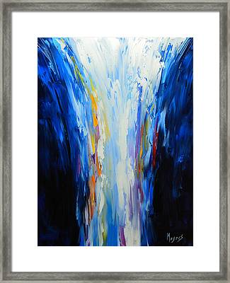 The Word Made Flesh, God Poured Out Framed Print by Mike Moyers