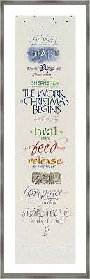 The Work Of Christmas Begins Framed Print by Judy Dodds