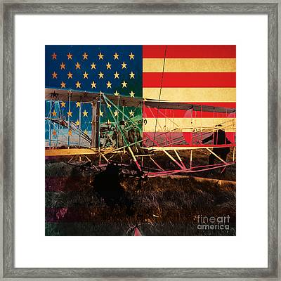 The Wright Bothers An American Original Framed Print by Wingsdomain Art and Photography