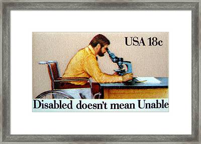 The Year Of The Disabled Stamp Framed Print by Lanjee Chee