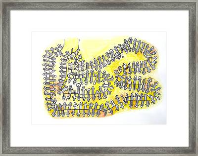 The Yellow Holons Universe Framed Print by Dirk Laureyssens
