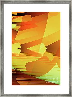 The Yellow Pool Framed Print by John Edwards