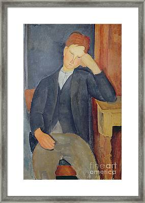 The Young Apprentice Framed Print by Amedeo Modigliani