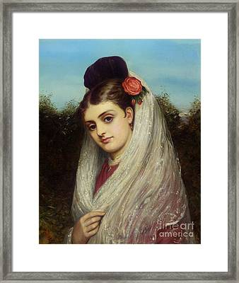 The Young Bride Framed Print by Charles Sillem