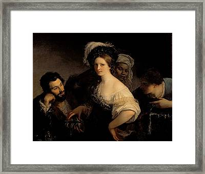 The Young Courtesan Framed Print by Alexandre Francois Xavier Sigalon