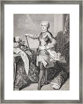 The Young King Louis Xv Of France, 1710 Framed Print by Vintage Design Pics