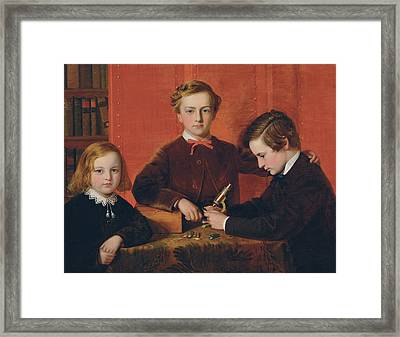 The Young Microscopists Framed Print by John Edgar Williams
