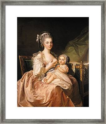The Young Mother Framed Print by Jean Laurent Mosnier