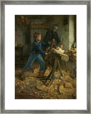 The Young Sabot Maker Framed Print by Henry Ossawa Tanner