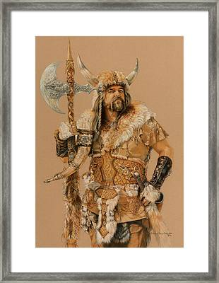 The Young Son Of Bor Framed Print by Steven Paul Carlson