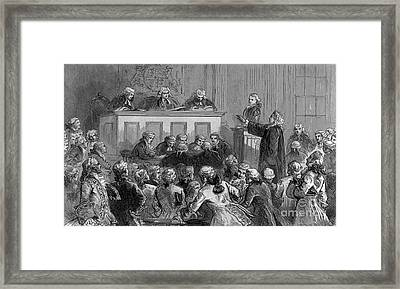 The Zenger Case, 1735 Framed Print by Photo Researchers