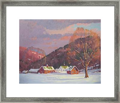 The Zieminski Farm Framed Print by Len Stomski