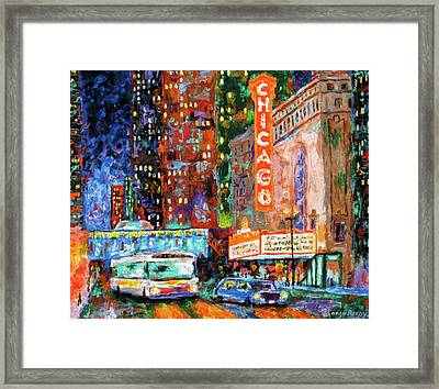 Theater Night Framed Print by J Loren Reedy