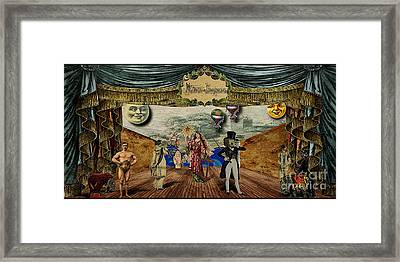 Theatrum Imaginarius -theatre Of The Imaginary Framed Print by Cinema Photography