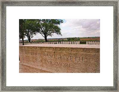 Framed Print featuring the photograph Their Name Liveth For Evermore by Travel Pics