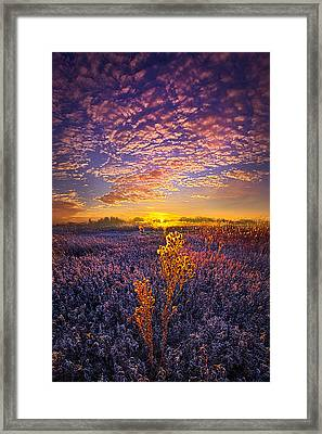 Their Voices Raised As One Framed Print by Phil Koch