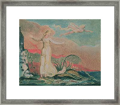 Thel In The Vale Of Har Framed Print by William Blake
