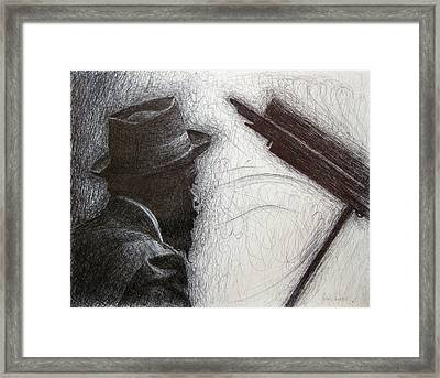 Thelonious Monk 1 Framed Print by Michael Morgan