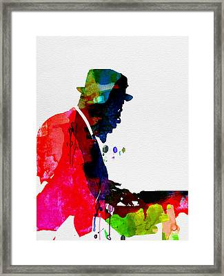 Thelonious Watercolor Framed Print by Naxart Studio