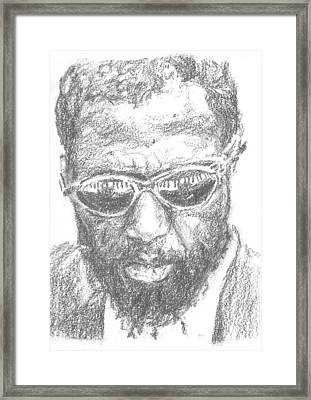 Thelonius Monk Framed Print by Maya Lewis