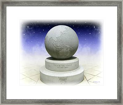 Then By The Service Called Away Framed Print by Brian Wallace