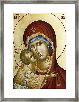 Theotokos Framed Print by Julia Bridget Hayes