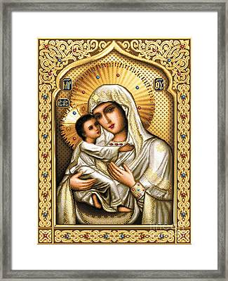 Theotokos Of Tenderness Framed Print by Stoyanka Ivanova