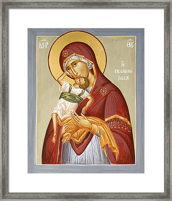 Theotokos Pelagonitisa Framed Print by Julia Bridget Hayes
