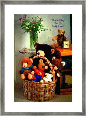 There Is Always Time For Teddy Bears Framed Print by Joyce Dickens