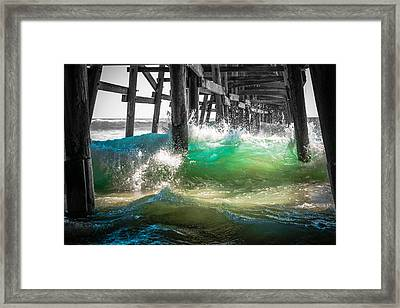 There Is Hope Under The Pier Framed Print by Scott Campbell